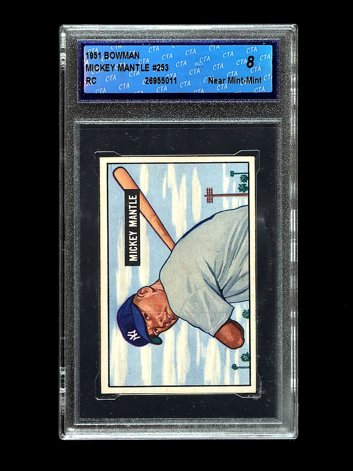 Mickey Mantle 1951 Bowman Rookie Card