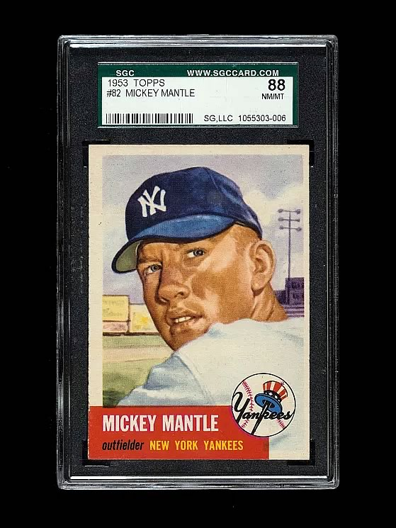 Mickey Mantle 1953 Topps