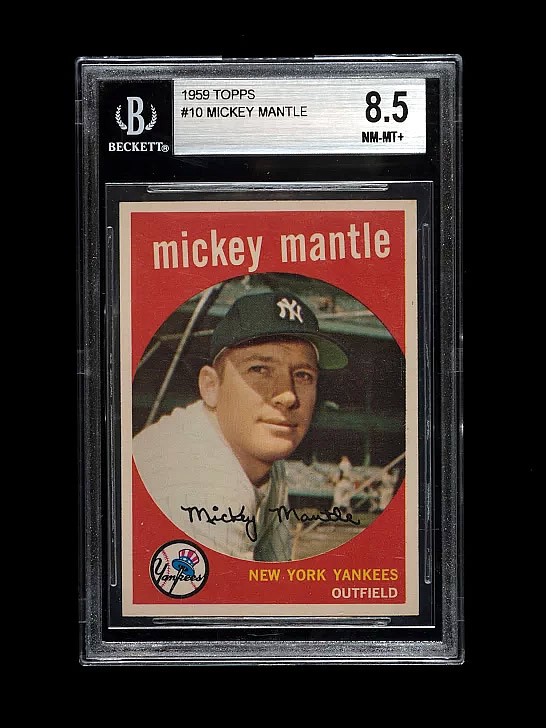 Mickey Mantle 1959 bvg 8.5