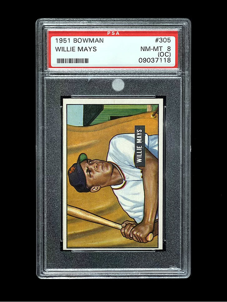 Willie Mays 1951 PSA 8