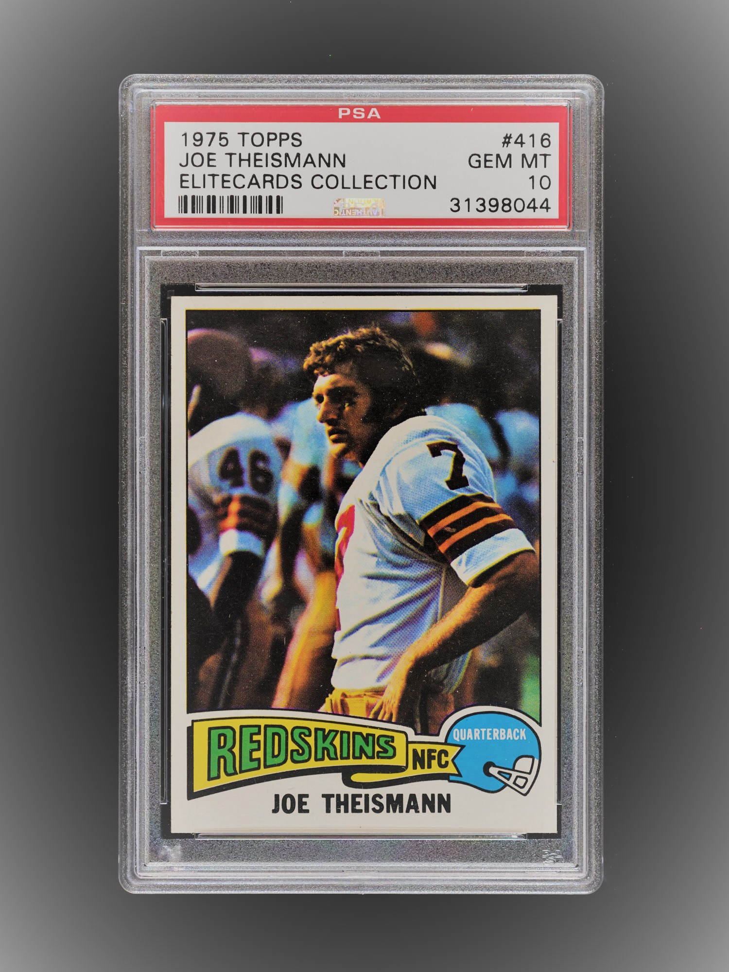 Joe Theismann 1975 PSA 10 Back