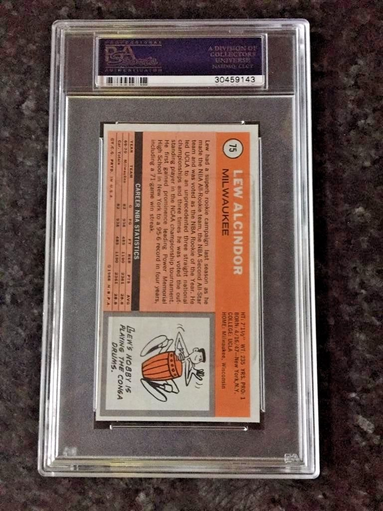 1970 Topps Lew Alcindor Psa 10 2nd Year Card